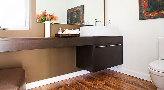 Valley Oak Powder Room Vanity