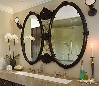 Bathroom Mirrors Bronze bathroom vanity mirrors oil rubbed bronze - bathroom design
