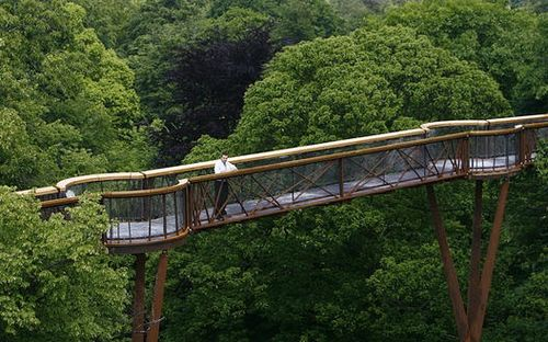 Xstrata Treetop Walkway at the Royal Botanic Gardens in Kew London