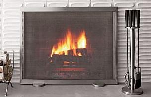 Brushed Fireplace Screen : Tool Set
