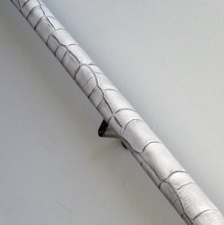 Crocodile Leather Handrail Detail