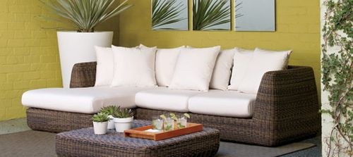 Outdoor Sofa and Ottoman